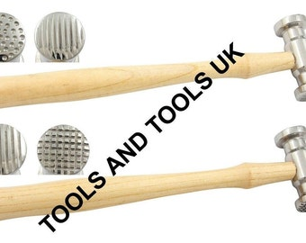 Texturing Metal Hammers Set 2 Pcs 4 Patterns Texture Hammer Jewelry Craft Tools