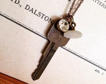 Industrial Style Vintage Key Pendant