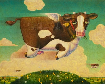 Bovine Dreams, fine art print, open edition