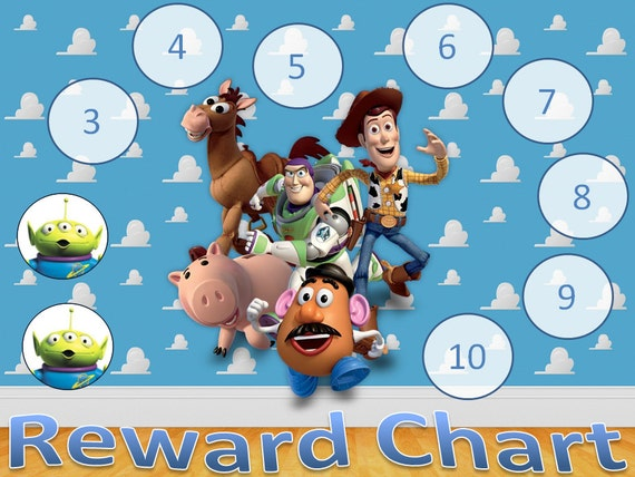 Toy Story Potty Training Chart : Toy story reward chart digital copy by nikkisinvitations