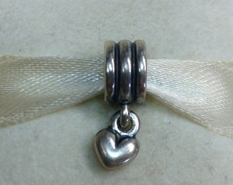 Authentic Pandora SIlver Heart Charm #790276