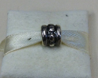 Authentic Pandora Silver Row of Dots Charm #790162