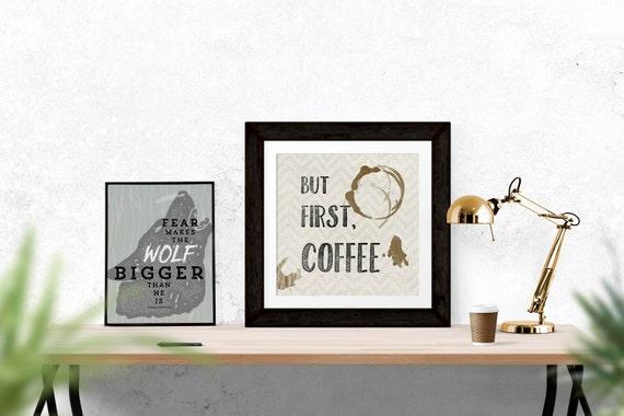 But First Coffee Kitchen Art Kitchen Decor Coffee Shop Art