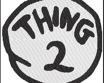 Thing 2 Dr Seuss Embroidery Design