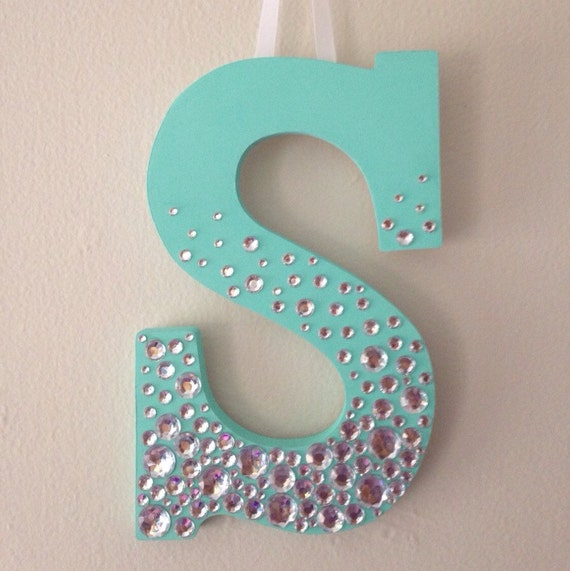 items similar to bedazzled wooden letter on etsy With bedazzled letters