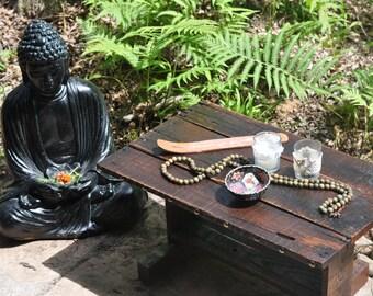 Medium Rustic Oak Meditation Altar