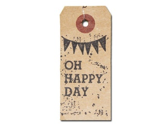 """Tampin vintage wooden """"Oh Happy Day"""""""