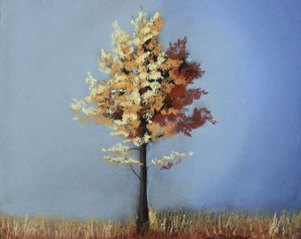 Pastel Landscape 'Little Tree' Limited Edition Print