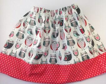 Modern Girls Twirly Owl Skirt
