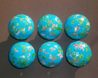 Decoupage wooden door knobs 35mm
