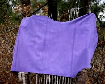 Colored suede, sewable suede, craft suede, garment suede,