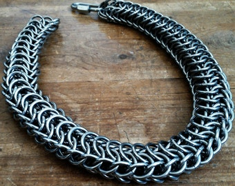 100% Stainless Steel Men's Persian Dragonscale Wallet Chain