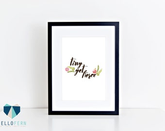 Wall art print - Ready to frame print - Tiny by fierce