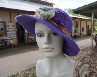 handmade merino felted hat