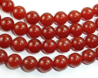 Carnelian, Round, 10mm beads, 15.5 Inch, Full strand, Approx 39 beads, Hole 1.2 mm, A quality (182054004)
