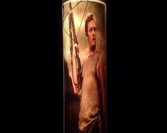 "Daryl Dixon The Walking Dead 2x8"" Horror Candle from Toxxic Candles"