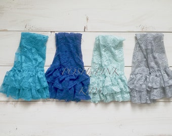Girl ruffle lace leg warmers, lace leggings, baby, toddler, girl, blue, grey, gray, ruffle leg covers, child, lacey, rustic, photo