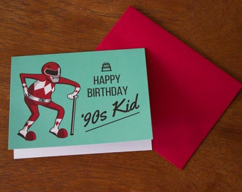 Hey '90s Kid, You're Old - Funny '90s Nostalgia Birthday Card Set - Limited Edition - 2 Cards Per Set