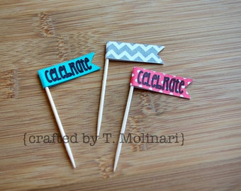 Customized Toothpick Flags (12 flags)