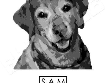 Pet Memorial Print - Personalized- Dog Memorial- Dog- Printable Art- Download