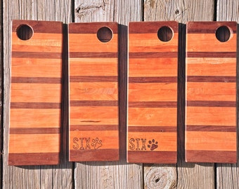 Wooden Cheese Board with Finger Hole