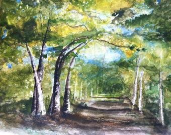 Original Watercolor: Virginia Country Back Roads