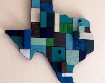 Texas reclaimed wood wall decor