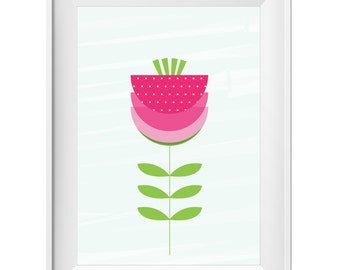 "Geometric flower Printable, design poster, 20 ""x 28"", 8 ""x 10"", A4 8.3 ""x 11.7"""