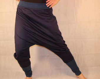 blue Bloomers  Harem Pants Sarouel jersey pants