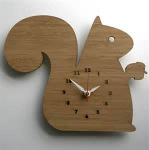 Items Similar To Wooden Animal Shaped Wall Clock On Etsy