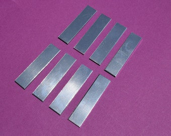 "25 - 5052 Aluminum 1/2"" x 1 1/2"" Rectangle Blanks - NO HOLES - Polished Metal Stamping Blanks - 14G 5052 Aluminum"