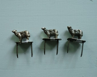 Lot of three Silver sheeps