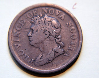 1824 Token One Penny, Province of Nova Scotia