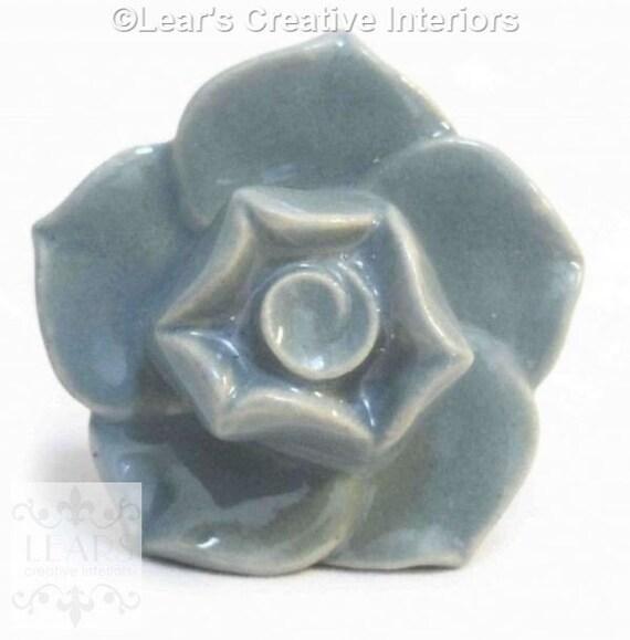 bouton de tiroir poign e de fleur gris porte vintage en. Black Bedroom Furniture Sets. Home Design Ideas