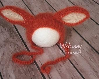 FOX hats photo props  newborn photography