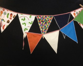 Very Hungry Caterpillar Bunting Flag