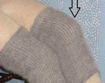 Knee pads of goat down. Knee warm guards. Handmade.