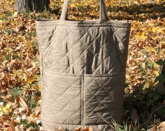 Recycled Tote Bag / Big Market Bag / Shopping Bag / Fiber bag / Grey Bag / Grocery Bag