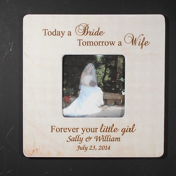 Memorable Wedding Gifts For Parents : PARENTS WEDDING GIFT 8X8 Personalized Frame Today a Bride Tomorrow a ...