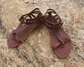 Brown Leather Sandal - Daphne: Handmade in Turkey / Bodrum Sandal