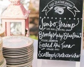 Wedding/Party chalkboard menu