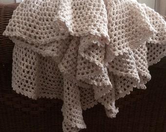 Handmade, Organic Cotton Baby Blanket