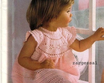 Lovely Girls Crochet dress pattern- PDF