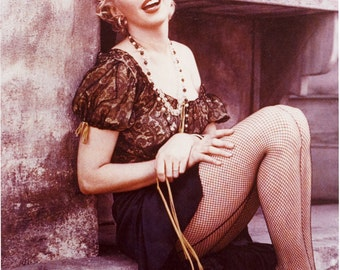 Marilyn Monroe Fishnet Stockings Poster Art Photo 11x14