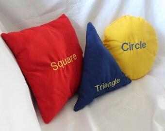 Bi-Lingual Shape Pillows