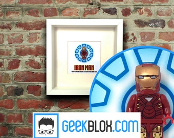 Iron Man Lego Framed