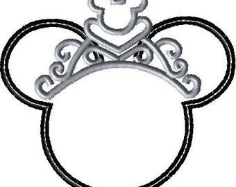 Minnie Applique Embroidery Design Disney Inspired