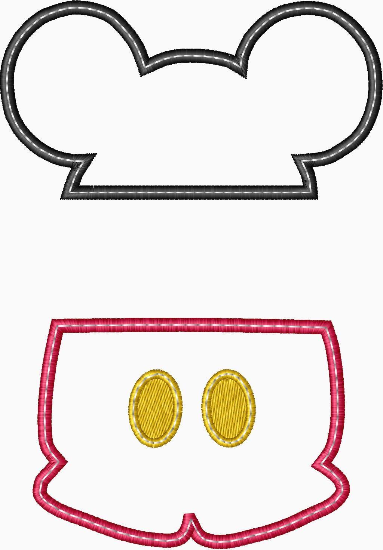 Mickey split applique embroidery design for Appliques exterieures design
