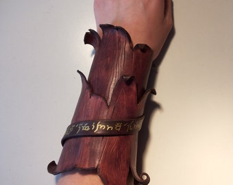 Wooden vambrace