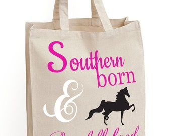 Southern Born and Saddlebred Canvas Tote